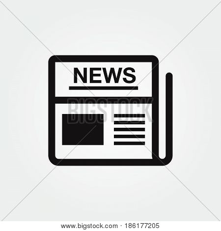 news vector icon isolated on white background .