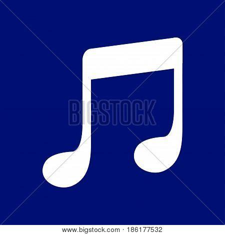 Music note icon. Character listening song. Flat design style.
