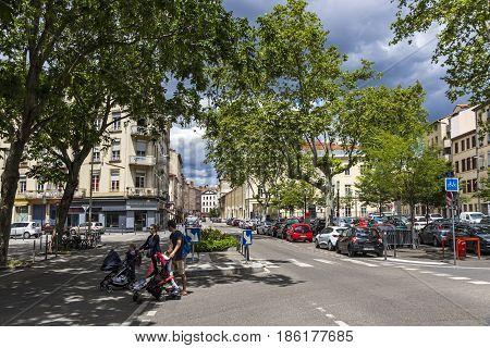Place Saint-louis, Square In Lyon, France