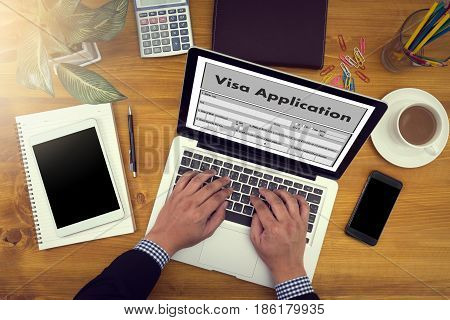 Work Visa Application Employment Recruitment To Work Businessman