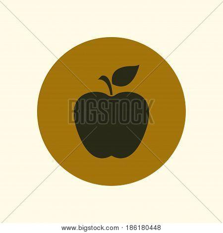 Apple icon. Healthy food concept. Naturopathy symbol.