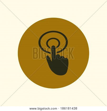 Hand cursor sign icon. Hand pointer symbol. Modern UI website navigation. Flat design.