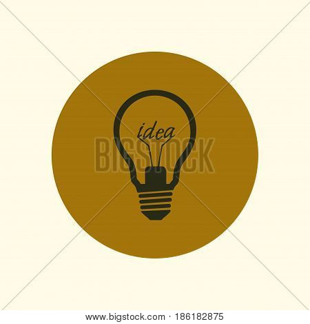 Light lamp sign icon. Idea symbol. Flat design style.