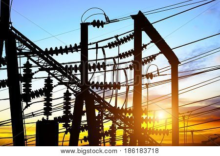 High voltage substation equipment and lines and towers