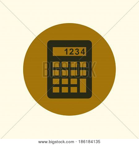 Calculator icon. Calculate the cost price. Flat design style.