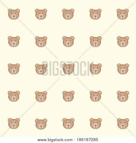 cutie bears with yellow background. tile background. vector. illustration. basic Red Green Blue. Graphic design.