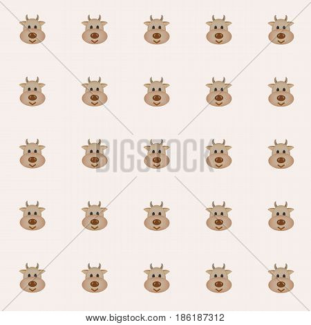 cutie cows with pink background. tile background. vector. illustration. basic Red Green Blue. graphic design.