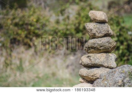 Granite Stone Cairn Milestone