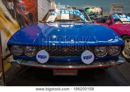 STUTTGART GERMANY - MARCH 02 2017: Sports car Fiat Dino 2.0 Coupe 1967. Europe's greatest classic car exhibition