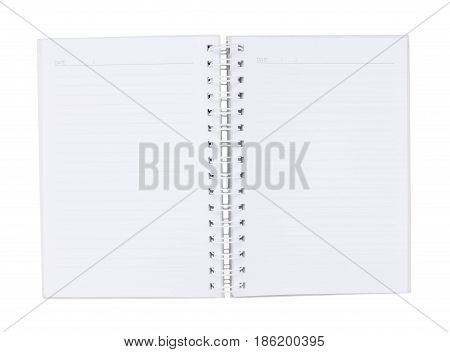 Open book isolated. top view. object isolated
