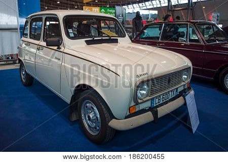 STUTTGART GERMANY - MARCH 02 2017: Economy car Renault 4 Savane 1987. Europe's greatest classic car exhibition