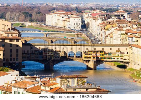 Old Bridge View, Florence, Italy