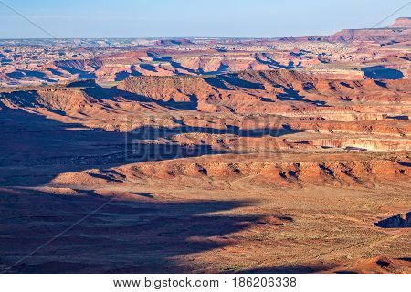 the scenic rugged landscape of Canyonlands National Park Utah