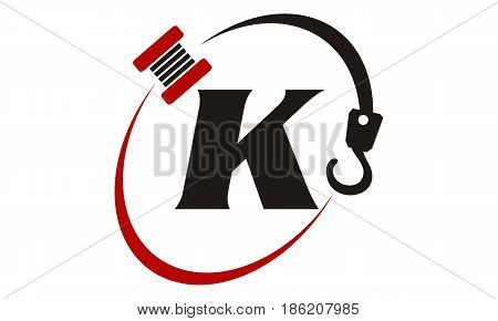 This image describe about Crane Hook Towing Letter K