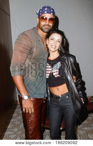 LOS ANGELES - Circa 2000:  Shemar Moore, Eva Longoria Stock Photo at an unknown location, approximately during 2000, in Los Angeles, CA