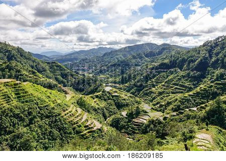 Mountain Scenery In Banaue, Philippines