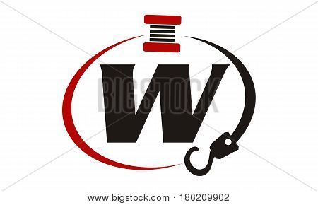 This image describe about Crane Hook Towing Letter W