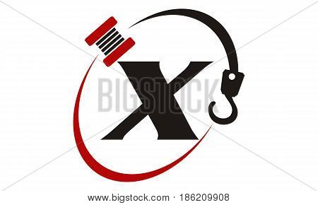 This image describe about Crane Hook Towing Letter X