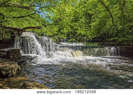 Step Falls At Old Stone Fort State Park In Manchester Tennessee