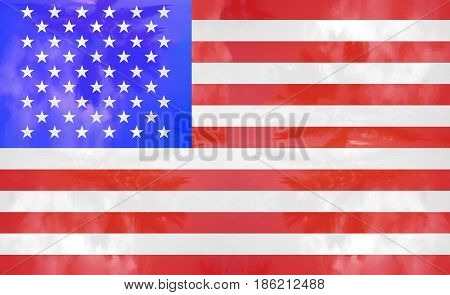 flag usa united states of america illustration