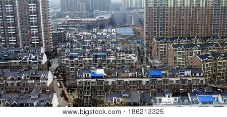 urban buiding houses china  architecture  metropolis district