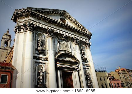 The Church of I Gesuati Sta Maria del Rosario on the Zattere in Venice .