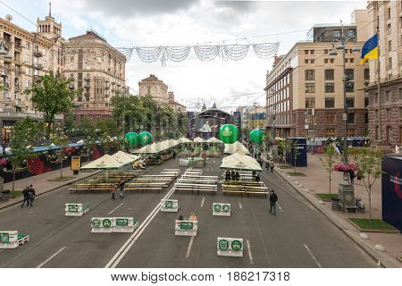 Kyiv - May 10: Fan zone of Eurovision Song Contest 2017, Kyiv, Ukraine, May 10, 2017