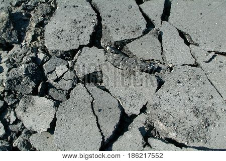 Crack asphalt for background and texture too