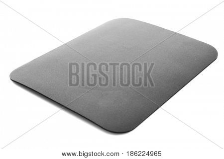 Black mouse pad on white background