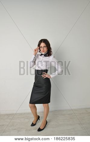 Business In A Black Skirt