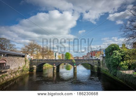 One of the old stone bridges in Limerick city, Ireland