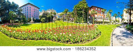 Opatija Park And Architecture Panoramic View