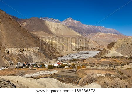 Near the village of Cagbeni, Lower Mustang, Nepal
