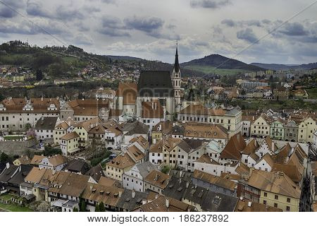 City of Cesky Krumlov in Czech Republic