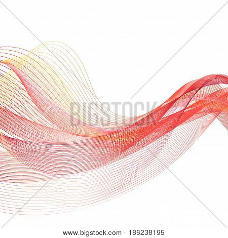 Vector graphic wave on white background. Template for design banner packing poster