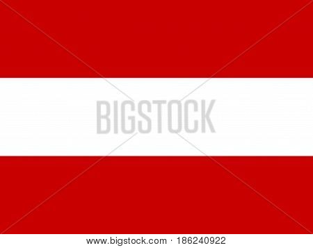 Flag of Austria, vector illustration National symbol