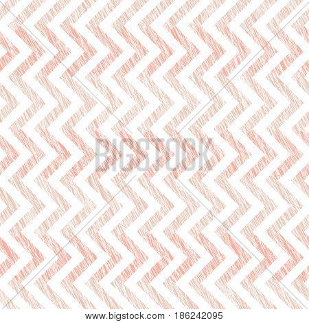 Pink scratched waves. Seamless pattern. Abstract. Simple wavy background. Pale colored grungy texture. Plain backdrop for decoration, wallpaper, web page bg.