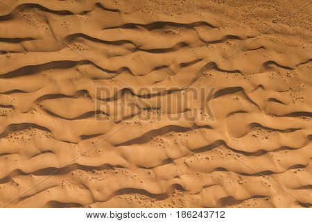 Waves of sand dunes - Aerial view Sossusvlei Namibia