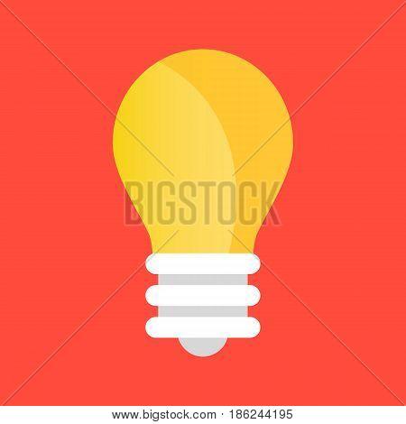 Vector light bulb icon. Vector lightbulb icon