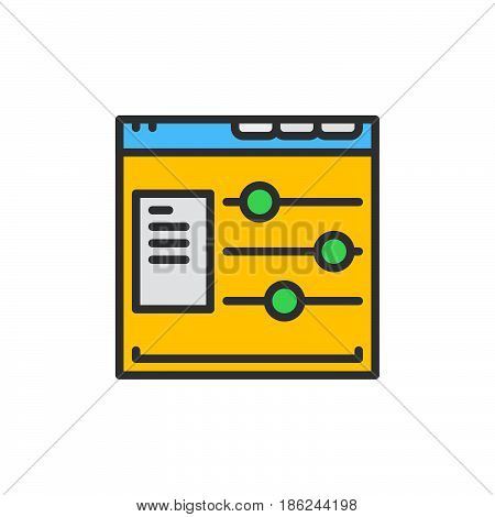 Web site options filled outline icon line vector sign linear colorful pictogram. Symbol logo illustration. Pixel perfect