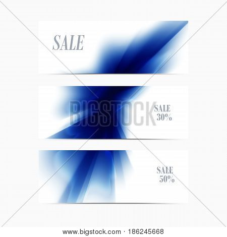 Vector banner blue smooth blurry background. Abstract colorful texture.