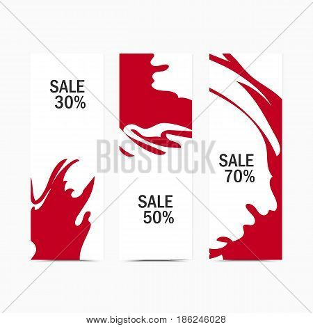 Vector banner artistic abstract background. Colorful funny template