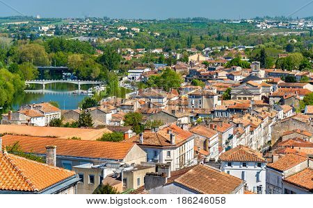 Cityscape of Angouleme, the Charente department of France