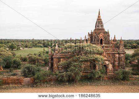 Photo of Burmese temple in Bagan, Myanmar