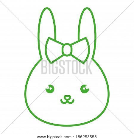 cute and tender female rabbit kawaii style vector illustration design