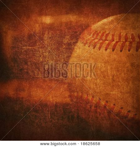 Old faded background rendering of a baseball