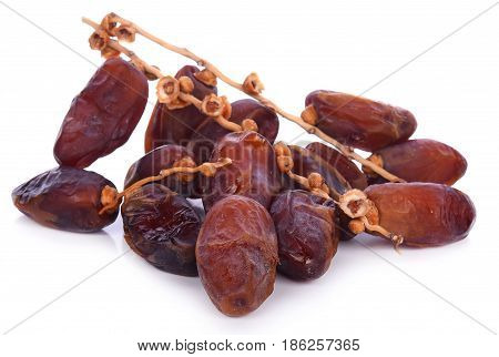 Dates Palm fruit isolated on white background