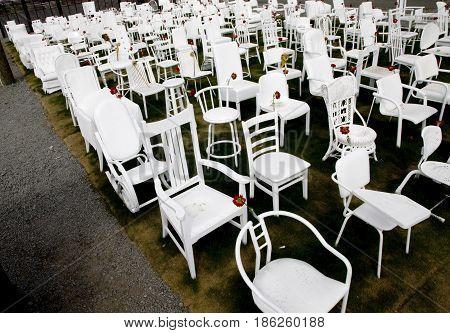 White Chairs Christchurch Downtown earthquake Memorial 185