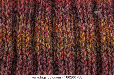 cloth of manual knitting from melange yarn of various flowers