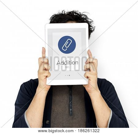 Paper Clip Mail File Attachment Graphic